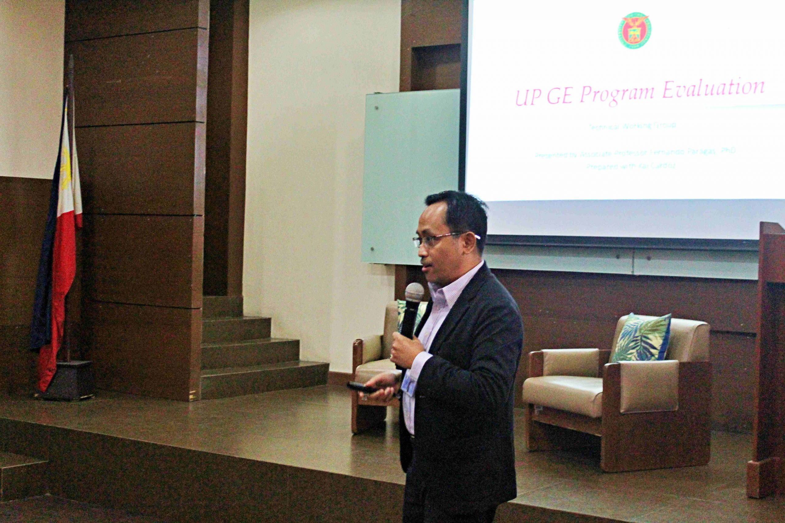 Prof. Paragas shares the Course Exit Survey