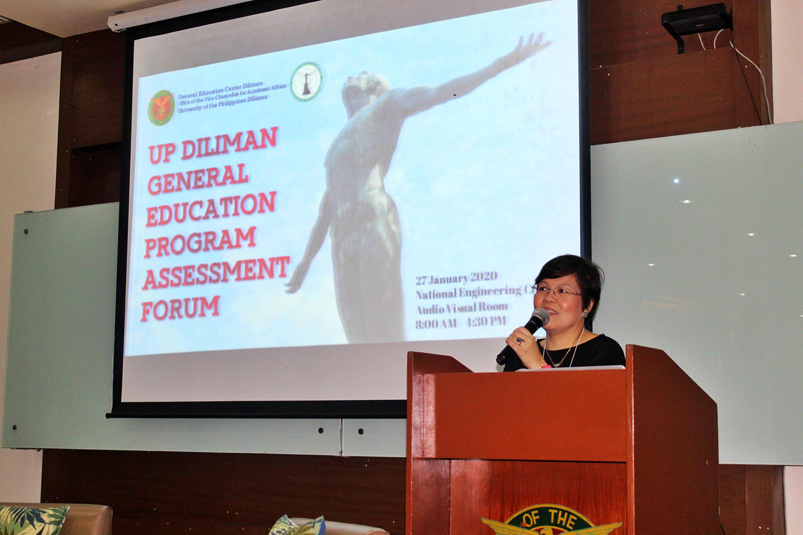 GEC Director Vanessa Oyzon opens the forum